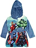 Marvel Avengers Jungen Bademantel Morgenmantel (104 (4 Jahre), Taubenblau)