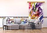 AG Design Wand Sticker, Selbstklebende Folie, Mehrfarbig, 500 x 14 cm