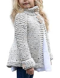 Ropa niña, AIMEE7 abrigo niña invierno Bebé niñas ropa botón de punto jersey Cardigan abrigo tops 1-8 Años