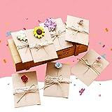 Shsyue® 5pcs Grußkarte mit Verschiedenen Blumen für Weihnachten Hochzeit Feiertag Neujahr