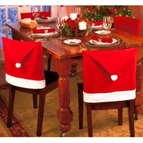 the purple tree Cute Christmas Chair Covers (Red and White) – Set of 4