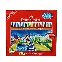 Faber-Castell 5281122715 Silinebilir Mum Boya, 15 Renk