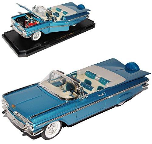 Chevrolet Chevy impala 1959 Cabrio Blau Oldtimer 1/18 Yatming Modellauto Modell Auto - Chevy Modell Auto Impala