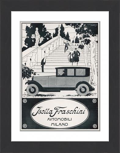 framed-print-of-isotta-fraschini-car