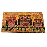 Hooters Owl Decoir Bruch Coir Doormat 75 x 45cm