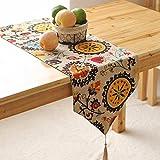 BBSLT Moda stile europeo moderno semplice tabella di tè bandiera cotone e bandiera, biancheria da tavola, letto bohemien bandiera, nappa armadietto bandiera,30 * 220cm