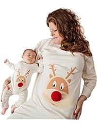 Ropa de madre e hijo, mamá y yo Bebés y niños pequeños Niñas Peluquería Ciervos