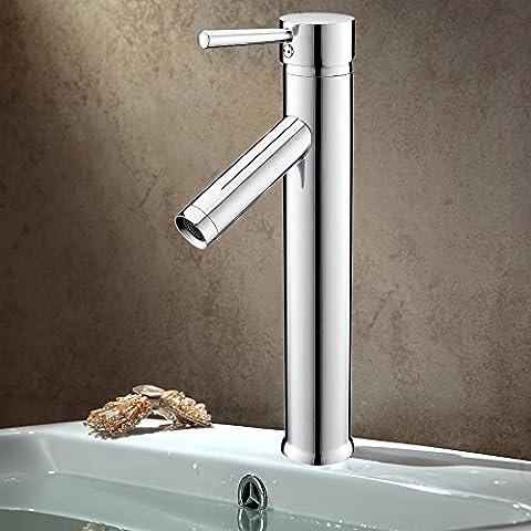 Auralum Robinet Mitigeur haut Salle de bain Robinet de lavabo