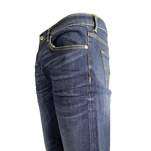 Edwin Herren ED-80 dünne Jeans in Karottenform, Blau denim lido wash