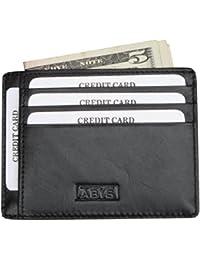ABYS Genuine Leather Card Holder||Card Case||Money Clip||Credit Card Holder||Business Card Holder For Men & Women...