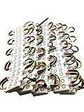 YXH® LED Modul RGB 100 St. 12V (4LED Einspritzmodul-Kit Quadratische) für DIY, LED-Beleuchtung Buchstaben Zeichen Billboard Licht, drinnen draußen Wasserdichte 5050 SMD (20 Stück/ Schnur)