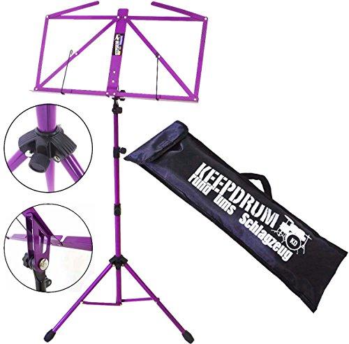 Atril Keepdrum modelo MUS3 FL color lila, con funda