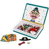 Janod Magneti'Book Crazy Faces juguete educativo, Niños (J02716)