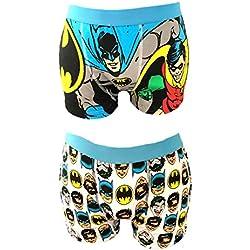 Online Bargain Superstore - Bóxers - para hombre multicolor Batman 'Faces' & 'Robin' Small
