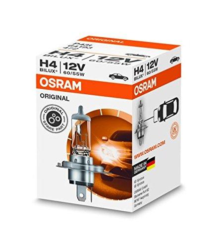 Osram ORIGINAL H4, Halogen-Scheinwerferlampe, 64193, 12V PKW, Faltschachtel (1 Stück)