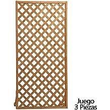 Papillon 8043000 - Juego Paneles celosia Rectangular Madera 180x90 cm 3 Piezas