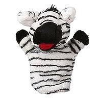 DOUERDOUYUU Safe and Environmental Friendly Cartoon Animal Doll Kids Glove Hand Puppet Soft Plush Toys Hand Plush Puppets Toy (zebra)