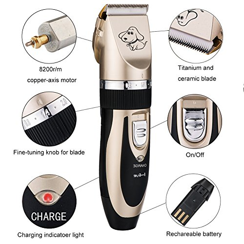 Electric-Pet-Grooming-ClippersI-live-Rechargeable-Cordless-Pet-Fur-Grooming-Trimmer-Kit-setLow-Noise-Low-VibrationProfessional-Pet-Dogs-and-Cats-Grooming-Trimmer-Kit