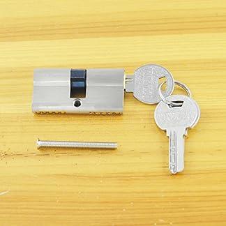 Cerradura de bombín con pomo, adv-one, níquel 60mm (30/30) Cilindro de cerradura de seguridad con 3llaves