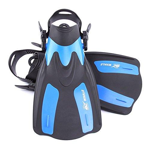Lixada Erwachsene Kurz Flippers/Schnorcheln SchwimmFlossen(Regulierbaren Fersen) - Verstellbare Kurze