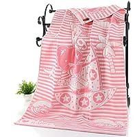 XHCHE Cotton Adult Cartoon Towel Bath Towel Textile Large Thick Towel Hotel Bathrobe Beach Towel Children Blanket