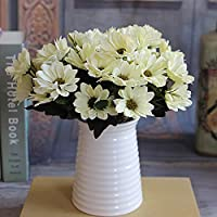joyliveCY - Ramo de flores artificiales con flores de seda (6ramas de 10cabeza)