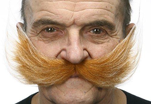 Mustaches Selbstklebende Fälscher Schnurrbart Neuheit Fisherman's Falsch Gesichtsbehaarung Kostümzubehör Honey with für Erwachsene Weißer Farbe
