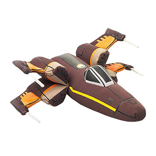 Star Wars Poe Plush Figurine X-Wing Fighter Poe Dameron Disney 16x16cm Brown