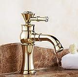 Cdlxjy Waschtischarmaturen Waschbecken Wasserhähne voll Kupfer Bad Schränke 360 Grad schwenkbare VerschraubungenBadarmatur - Waschtischarmatur
