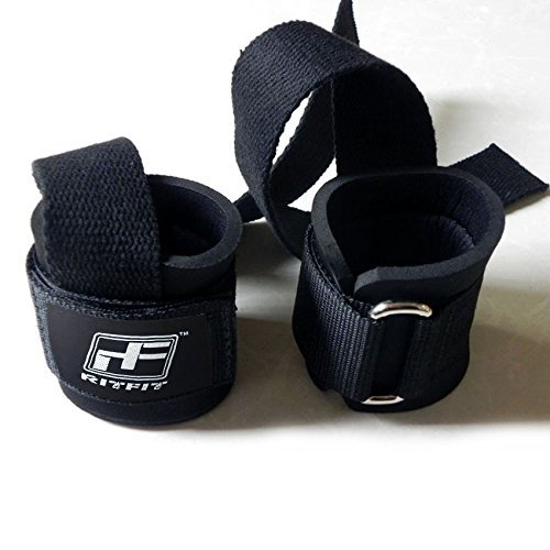RitFit-Lifting-Straps-Wrist-Protector-For-Weightlifting-CrossFit-Bodybuilding-MMA-Powerlifting-Strength-Training-With-Neoprene-Padding-Men-Women-One-Size-Fits-All
