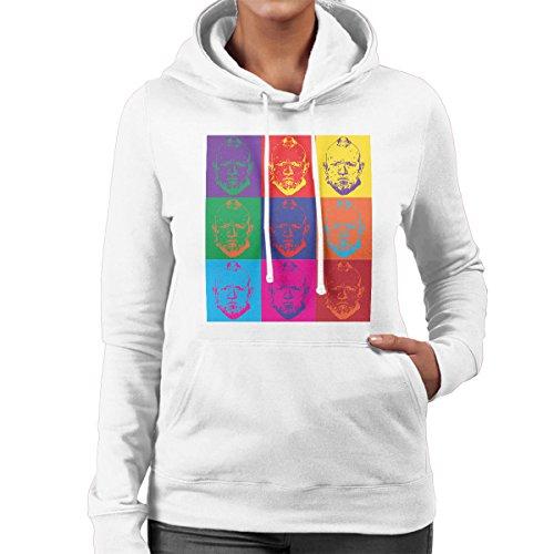 Yondu Guardian of the Galaxy Andy Warhol Style Women's Hooded Sweatshirt White