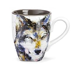 Big Sky Carvers Wolf Mug, 16-Ounce, Multicolor