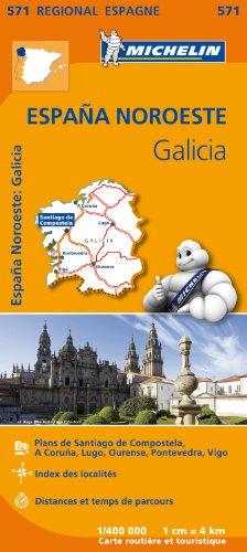 Carte Espagne Galice Michelin par Collectif MICHELIN