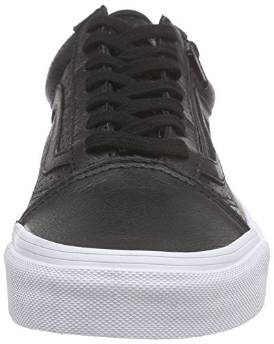 Vans Old Skool Zip - Scarpe da Ginnastica Basse Unisex – Adulto Nero (perf Leather/black)