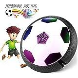 Waitiee Air Hover Ball niños revolotean juego de pelota juguetes con la luz LED y la música de aire de fútbol de la energía del disco Glide Ball Juego de la base de regalo de Navidad para los niños am (Soccer Hover Ball)