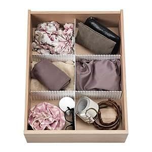 ikea trennsteg f r schubladen h fta schubladeneinteilung in 2 gr en 74 x 14 cm. Black Bedroom Furniture Sets. Home Design Ideas
