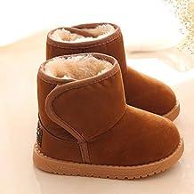 Tefamore Patucos de Invierno Soft Sole de Algodón para Bebés (Tamaño: 21, marrón)