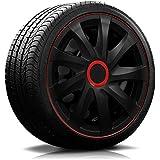 4x Radkappen Carbon Black Auto Radzierblenden Schwarz 15 Zoll Auto
