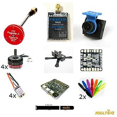 QAV X210 4mm X Frame,Racing Drone Kit with FPV, 4 EMAX 2300 S Motors, ESC,F3 FC,PDB,VTX,Camera by KOOLTOYZ