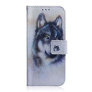 NEXCURIO Galaxy A40 Hülle Leder, Handyhülle Tasche Leder Flip Case Brieftasche Etui mit Kartenfach Stoßfest Kratzfest Schutzhülle für Samsung Galaxy A40 – NETXI140042#2