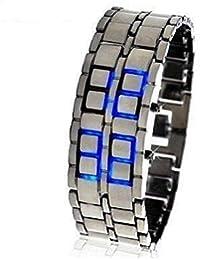 Pulsera LED azul metal correa estilo de la lava LED Digital Reloj