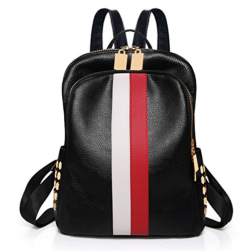 Mynos , Damen Rucksackhandtasche Rot / Weiß