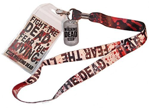 The Walking Dead Series Fight the Dead Fear The Living 48,3cm Lanyard Badge Holder by First _ Look