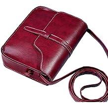 RETUROM Bolsos Para mujer, Bolso de cuero del hombro de la cruz del bolso del