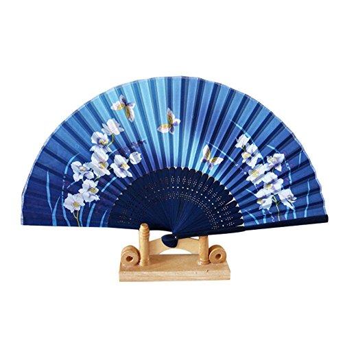 Syeytx Muster Falttanz Hochzeit Party Spitze Seide klassischen chinesischen Stil Tanz Fan Falten Hand Blume Fan Wandventilator, Hochzeit, Party, Tanz, Karneval Dekor - Tanz-dekor