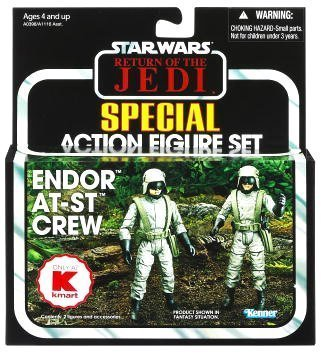 Hasbro The Vintage Collection Star Wars Endor AT-ST Crew Set mit AT-ST...