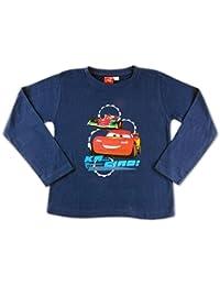 "Disney Pixar Cars Langarmshirt ""Lightning McQueen"", Größe 98 - 128, Öko Tex Standard 100, T-Shirt, Pullover, Langarm Shirt"
