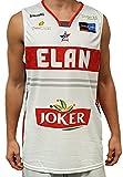 Spalding Elan Chalon Officiel Maillot de Basketball Homme, Blanc, FR : L (Taille Fabricant : L)