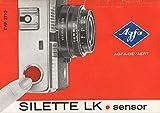 Silette LK Sensor Typ 2712 Agfa-Gevaert Bedienungsanleitung
