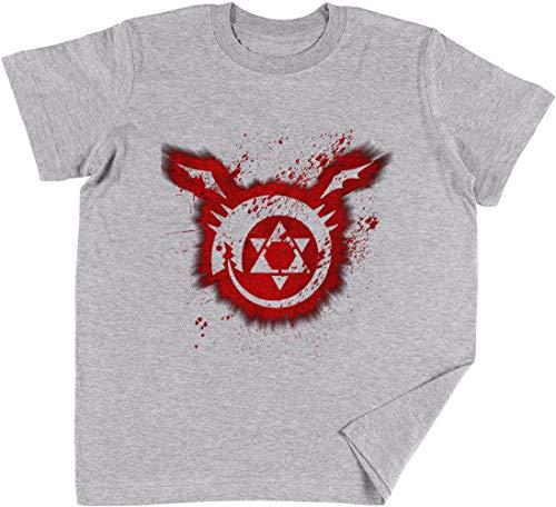 Ouroboros Kinder Jungen Mädchen Unisex T-Shirt Grau